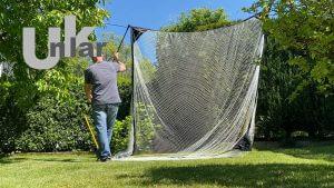 Ein Golfnetz im Garten aufstellen, so gehts ganz einfach