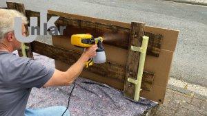 Wie spritze ich einen Gartenzaun mit dem WAGNER Farbsprühsystem W 590 FLEXiO